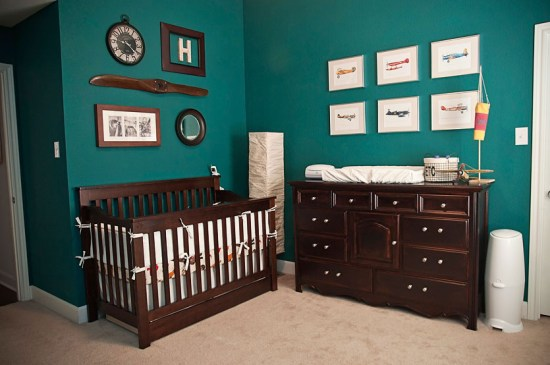 Vintage Planes: Boy Nursery Ideas: From narrowing down the boy nursery ideas to painting the walls, there are a lot of ways you can uniquely design the room for your new baby.