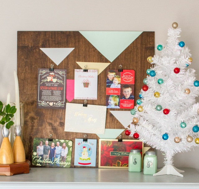 geometric-holiday-card-display