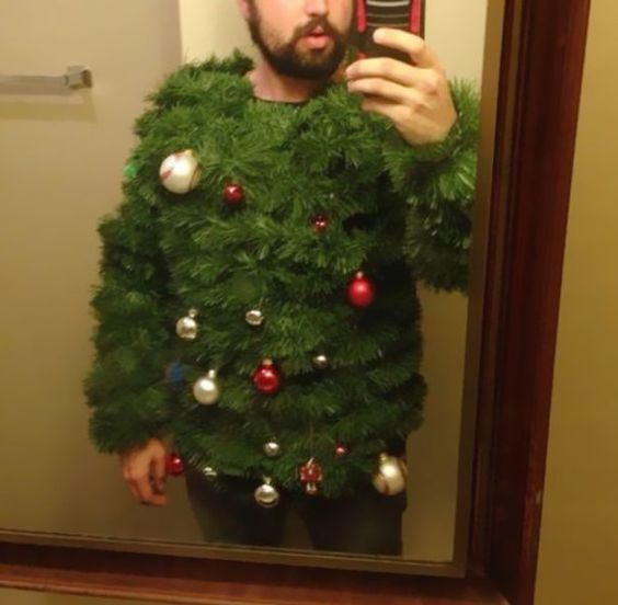 Christmas Tree Sweater: If you are attending an ugly Christmas sweater party this year, we have got you covered! Here are 25 Ugly Christmas Sweater Ideas for you to use as inspiration.