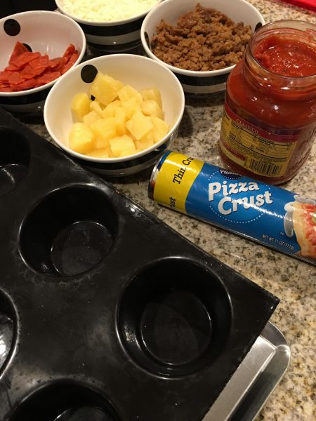 Mini Deep Dish Pizzas are the perfect thing for the whole family to help make!