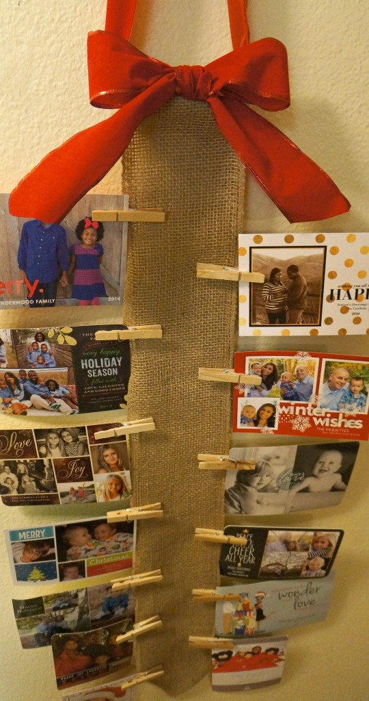 holiday burlap-card-holder
