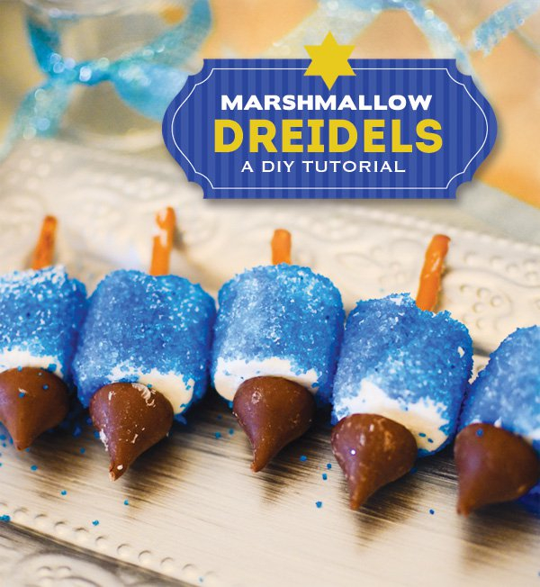 Marshmallow Dreidels: Hanukkah Treats: Whip up one of these traditional treats to celebrate Hanukkah.