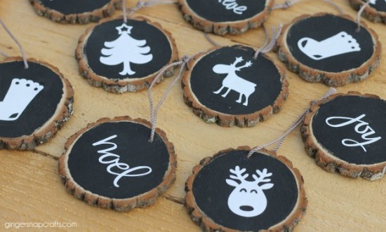 Wood Slice Ornaments: These creative handmade ornaments will add a special touch to your Christmas tree this season!