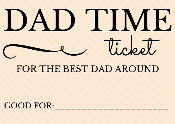 Coupons for Father's Day - customizable and easy to print and gift.