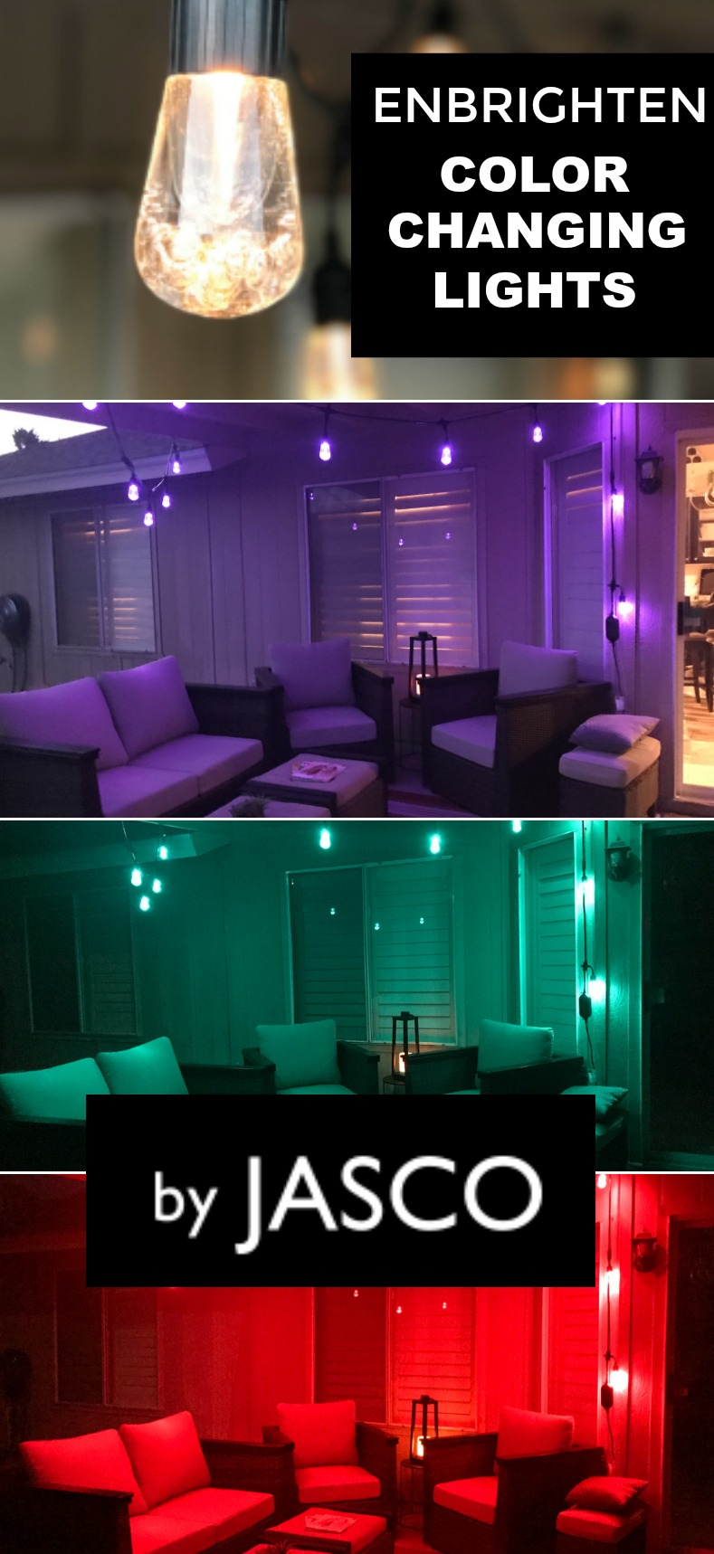 Jasco's Enbrighten Seasons Color Changing Café Lights