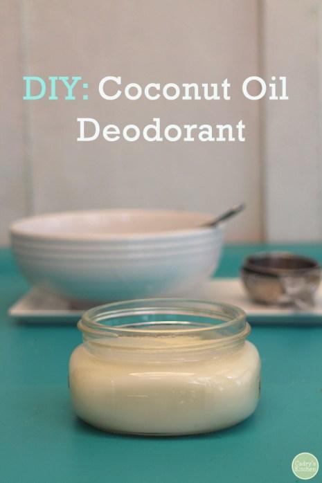 Ways To Use Coconut Oil - Deodorant
