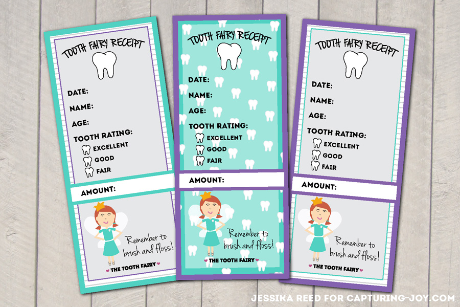 image about Printable Tooth Fairy Receipt identified as Teeth Fairy Printables