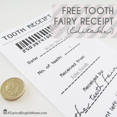 photograph regarding Printable Tooth Fairy Receipt identified as Enamel Fairy Printables