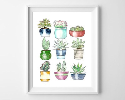http://allcraftythings.com/succulents-wall-art/
