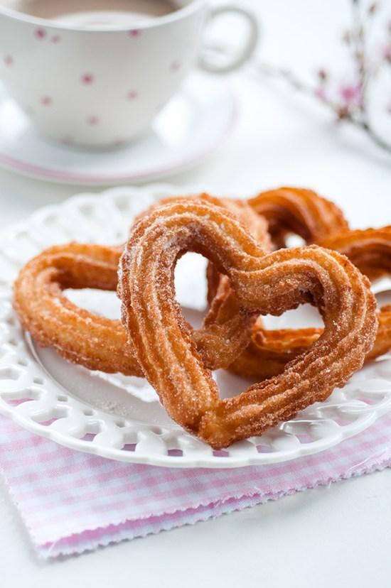 Heart shaped churros