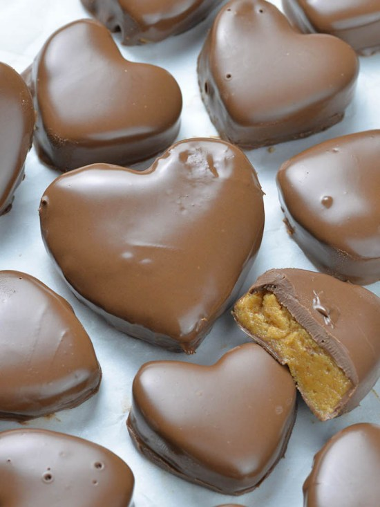 Homemade Reese's Peanut Butter Hearts