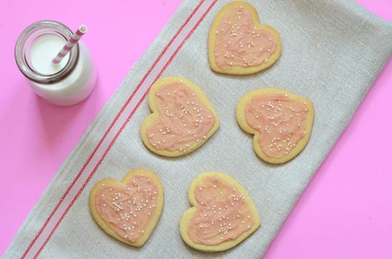 Paleo Heart Shaped Sugar Cookies
