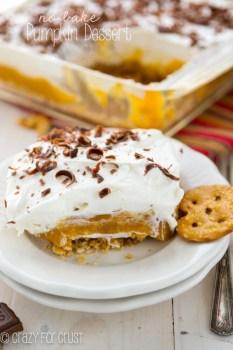 No Bake Pumpkin Dessert