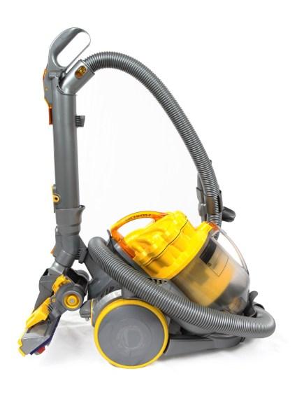 Yellow handheld vacuum