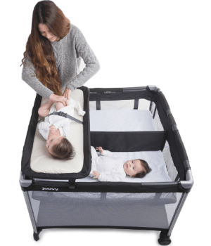 joovy playard changing diaper section