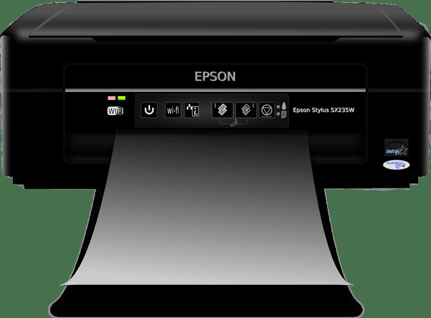 front view epson black printer
