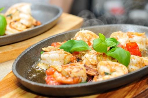 shrimp cocktail tomatoes basil