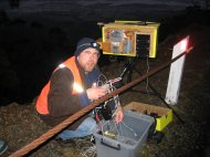 """Justin VK7TW trying to find """"that"""" cable!"""