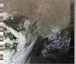 False-colour image taken from NOAA-18 showing east coast of Australia
