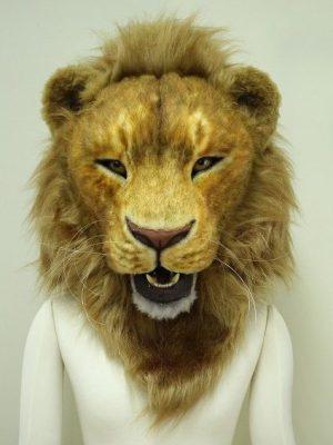 ライオンマスク口可動式