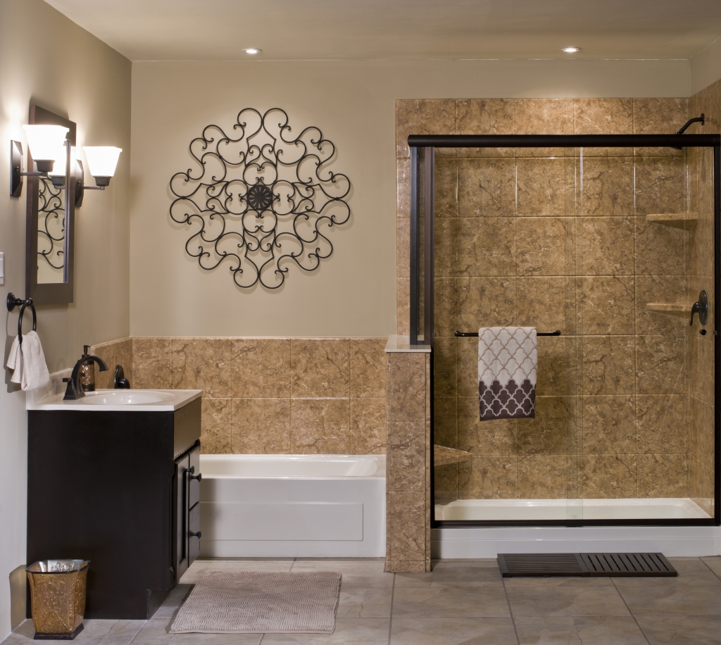 Venetian Acrylic Stone Bathroom Wall Surround  ReBath