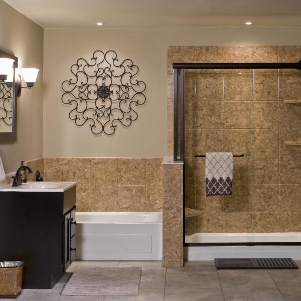 Venetian Acrylic Stone Bathroom Wall Surround  ReBath