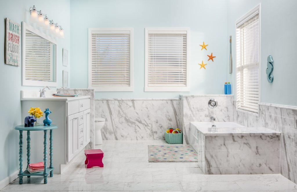 White Calcutta Marble Acrylic Bathroom Wall Surround  ReBath  ReBath