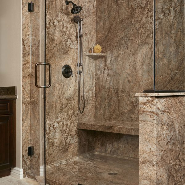 Tahoe Acrylic Granite Bathroom Wall Surround  ReBath  ReBath