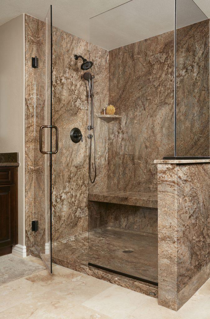 Tahoe Acrylic Granite Bathroom Wall Surround  ReBath