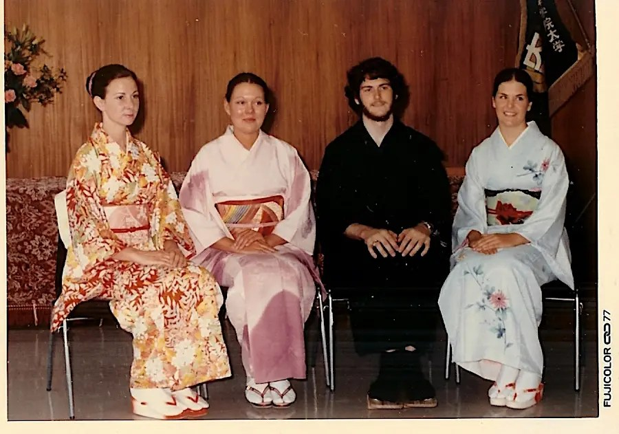 On the left, in my first kimono.