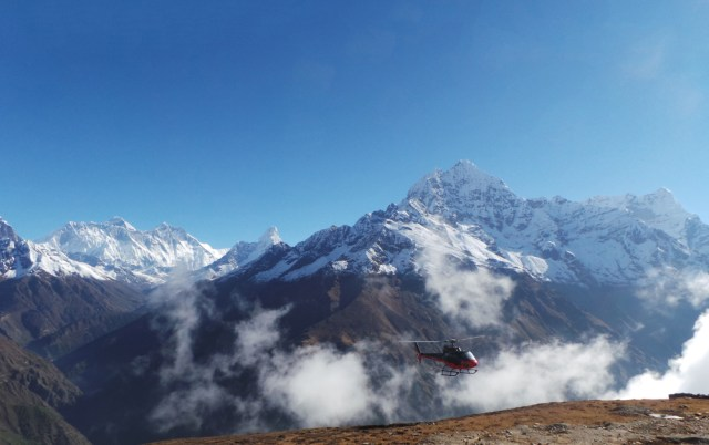 Everest region by air