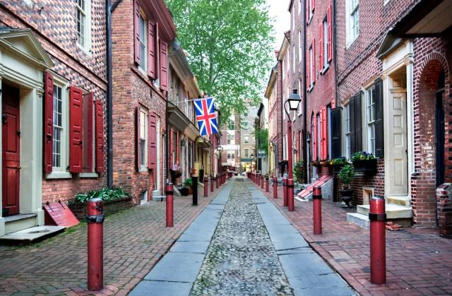 Elphreth's Alley in Philly. Photo via www.elfrethsalley.org