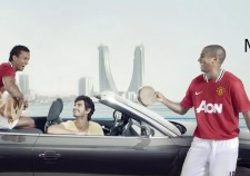 Manchester United Viva Bahrain advert players in car   Make up and hair by Rebecca Anderton in Manchester at www.rebeccaanderton.co.uk