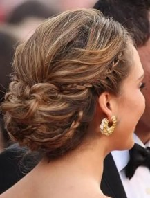 2015 Wedding Trends - Bridal hair incorporating small braids from Rebecca Loves Weddings www.rebeccaanderton.co.uk