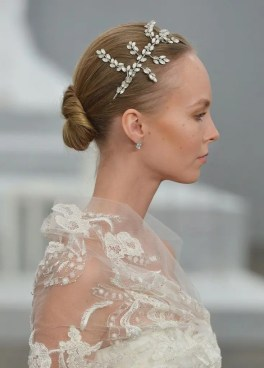 2015 Wedding Trends -Sleek bun wedding hairstyle from Rebecca Loves Weddings www.rebeccaanderton.co.uk