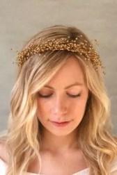 2015 Wedding Trends - Gold baby's breath crown from Rebecca Loves Weddings www.rebeccaanderton.co.uk