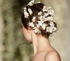2015 Wedding Trends - Ballet bun with ribbon headband from Rebecca Loves Weddings www.rebeccaanderton.co.uk