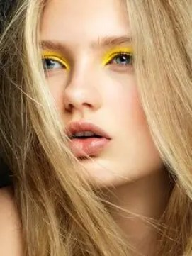 Prom Hair and Makeup Inspiration - Colourful yellow eye makeup from Rebecca Loves Weddings www.rebeccaanderton.co.uk