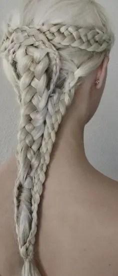 Prom Hair and Makeup Inspiration - Danaerys hair braids from Rebecca Loves Weddings www.rebeccaanderton.co.uk