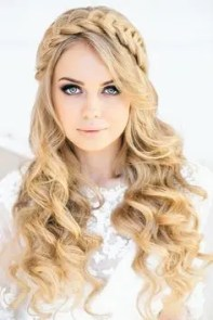 Prom Hair and Makeup Inspiration -Braided prom hair from Rebecca Loves Weddings www.rebeccaanderton.co.uk