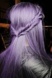 Prom Hair and Makeup Inspiration - Lilac braided hair from Rebecca Loves Weddings www.rebeccaanderton.co.uk