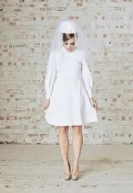Sixties Wedding Style File - Wedding dress and hat from Rebecca Loves Weddings www.rebeccaanderton.co.uk
