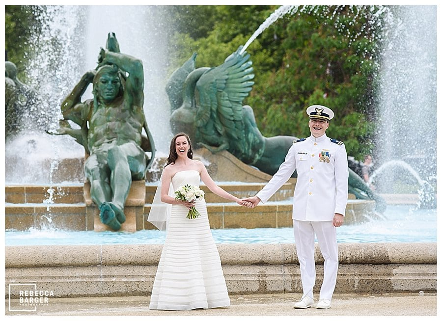 philly military wedding Logan