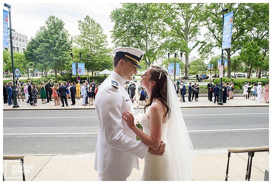 Wedding outside basilica Philly