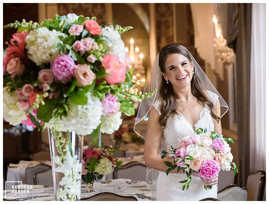 fleur de lis floral at Merion cricket club, the wedding shoppe