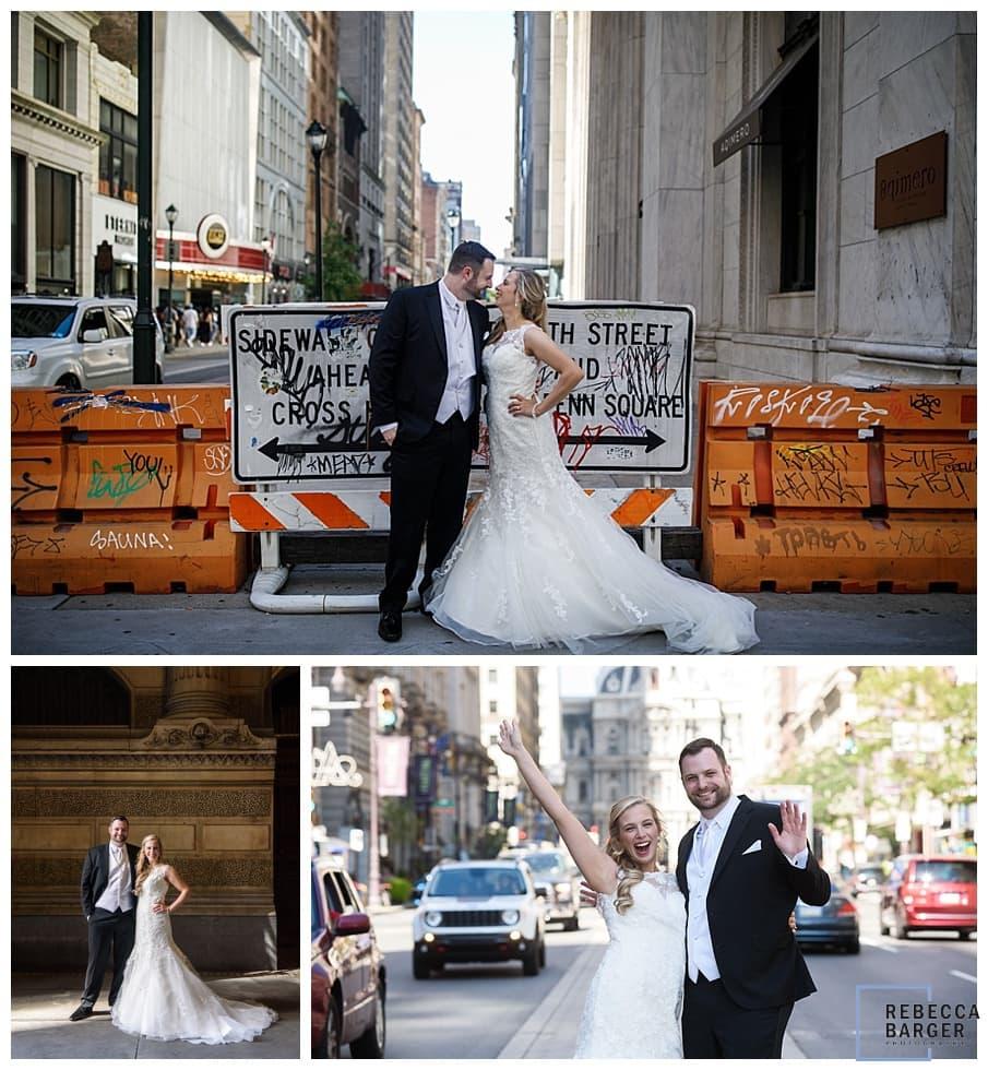 urban street wedding philly