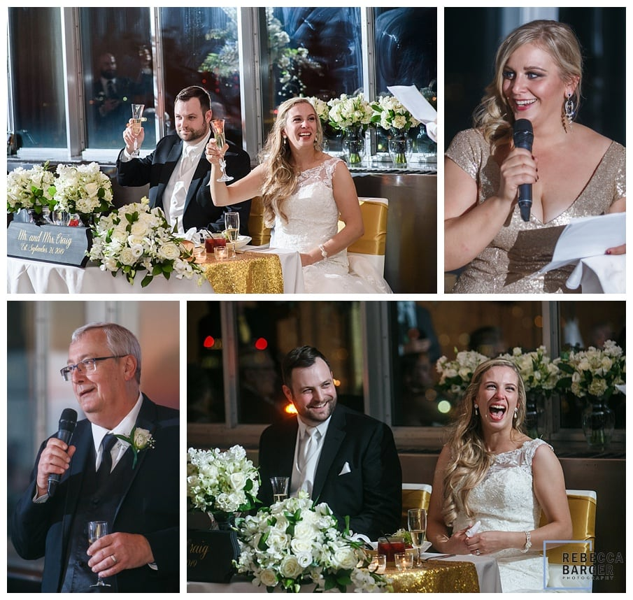 wedding toasts with flowers