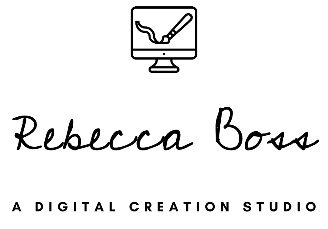 Logo for Rebecca Boss, website design studio in Ottawa/Gatineau