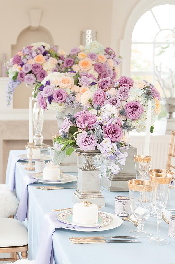 Lavender and Peach Manor Wedding Inspiration  Rebecca