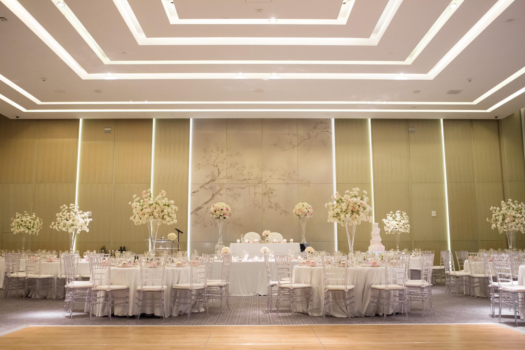 Modern White and Blush Wedding at Four Seasons Toronto